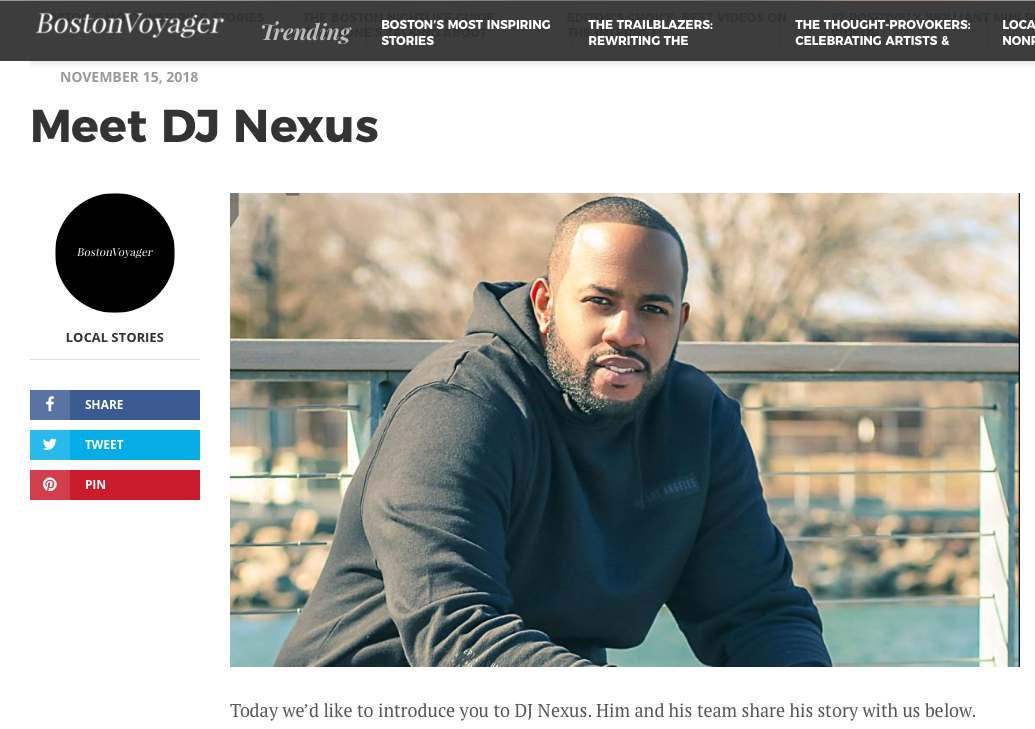DJ Nexus Boston Voyager